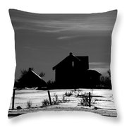 Waiting By The Pain Throw Pillow by Empty Wall