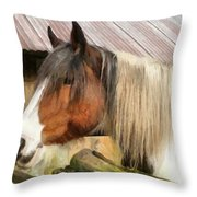 Waiting For A Stroke Throw Pillow