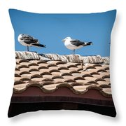 Waiting For Take Off Throw Pillow