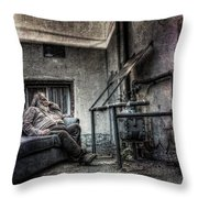 Waiting For The Gas Pressure To Rise Throw Pillow