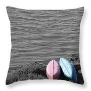 Waiting In Black Throw Pillow