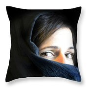 Waiting In Silence Throw Pillow
