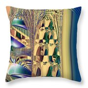 Waiting In The Sand Throw Pillow