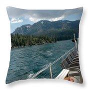 Wake Over Board Throw Pillow