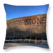 Wales Millenium Centre 3 Throw Pillow