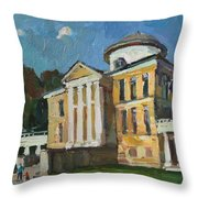 Walk In The Old Manor Throw Pillow