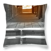 Walk Into The Past Throw Pillow