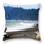 Walk On La Push Beach Throw Pillow