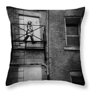 Walk On White  Throw Pillow