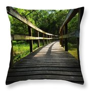 Walk This Way To Nature Throw Pillow