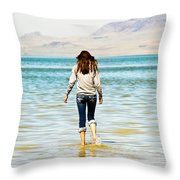 Walking Away 2 Throw Pillow