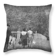 Walking Home Throw Pillow