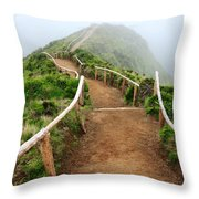 Walking Into The Clouds Throw Pillow by Gaspar Avila