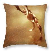 Walking Leafs Throw Pillow