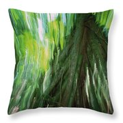 Walking Palm Socratea Exorrhiza Showing Throw Pillow