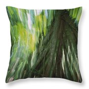 Walking Palm Tree Abstract Throw Pillow