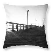 Walking The Planks Sunrise Throw Pillow