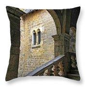 Walking Through A French Castle Throw Pillow