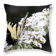 Walking Uphill Throw Pillow