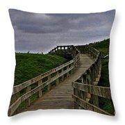 Walkway On Phillip Island Throw Pillow