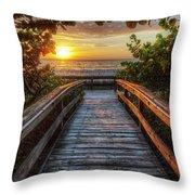 walkway to Paradise Throw Pillow