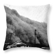 Wall Of Dust, Kansas, 1935 Throw Pillow