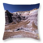 Wall Of Purple Throw Pillow