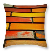 Wall Of Race Throw Pillow by Empty Wall