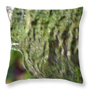 Wall Of Water Abstract Throw Pillow