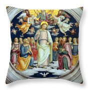Wall Painting Throw Pillow