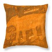 Wall Street Cliffs Petroglyph - Moab Throw Pillow