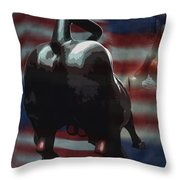 Wall Street Drama Throw Pillow