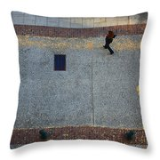 Wall Street Looking Down Throw Pillow