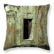 Wall Ta Prohm Throw Pillow by Bob Christopher