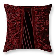 Wall To The Darkside Throw Pillow