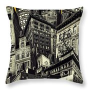 Walls And Towers Throw Pillow
