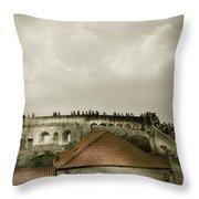 Walls Of Dubrovnik Throw Pillow