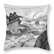 Walrus Hunt, 1875 Throw Pillow