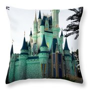 Walt Disney Castle Throw Pillow
