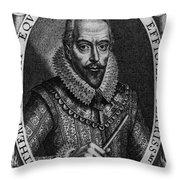 Walter Raleigh, English Courtier Throw Pillow