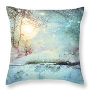 Wandering In The Light Throw Pillow