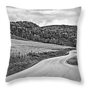 Wandering In West Virginia Monochrome Throw Pillow