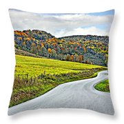 Wandering In West Virginia Throw Pillow
