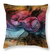 Wandering Star Throw Pillow by Linda Sannuti