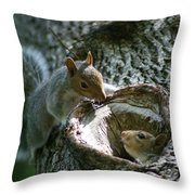 Want To Come Out And Play Throw Pillow