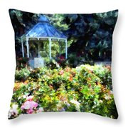 War Memorial Rose Garden 1  Throw Pillow