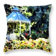 War Memorial Rose Garden 2  Throw Pillow
