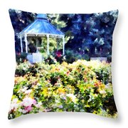 War Memorial Rose Garden  3 Throw Pillow