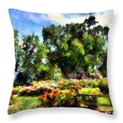 War Memorial Rose Garden  4 Throw Pillow