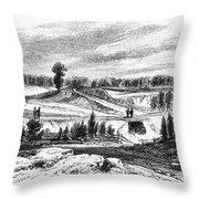 War Of 1812: Bladensburg Throw Pillow